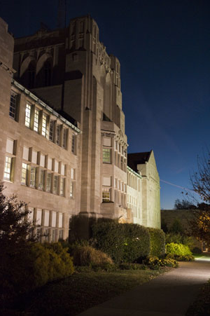 Olmsted Hall At Night